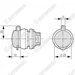 Hak łańcuchowy MI.  6-8, 1,12t. - L = 73mm