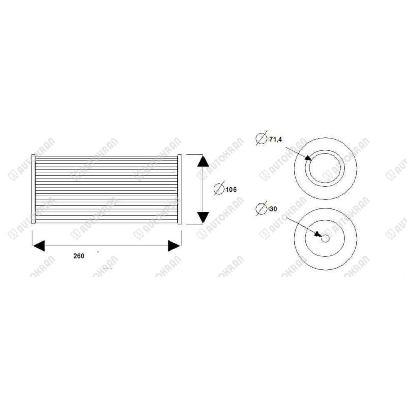 Wkład filtra odpowietrznika korka do zbiornika niski - MU4923017
