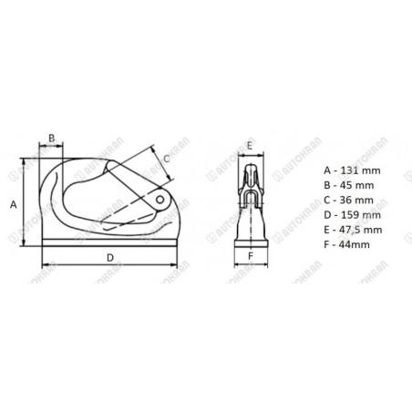Cewka fi 13,5/41mm 24DC 18W kwadratowa