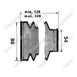 Wkład filtra zbiornika zrzutowy Hiab duży nowy typ fi 95/430 - oryginał, HIAB 9868917