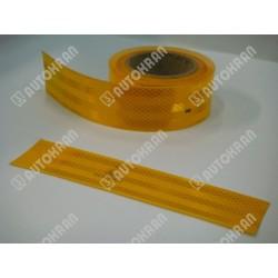 Folia odblaskowa / taśma konturowa, żółta - wysokośc taśmy - 51 mm