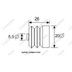Płyta przyłączeniowa pod jeden elektrorozdzielacz bez zaworu przelewowego ( stal )