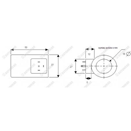 Ogniwo zbiorcze czterocięgnowe MI.  8-10, 5.3t. - wym. L-235mm x E-90mm x D-23mm