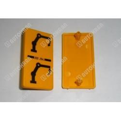Piktogram (ramię pośrednie) żółta tabl. stojąca / pionowa - 3552543