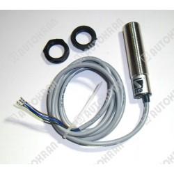 Czujnik indukcyjny M18, czoło zakryte, PNP/NC, rozwierny podający (plus + ), 10-30VDC, z przewodem 2m, strefa działania 0-8 m