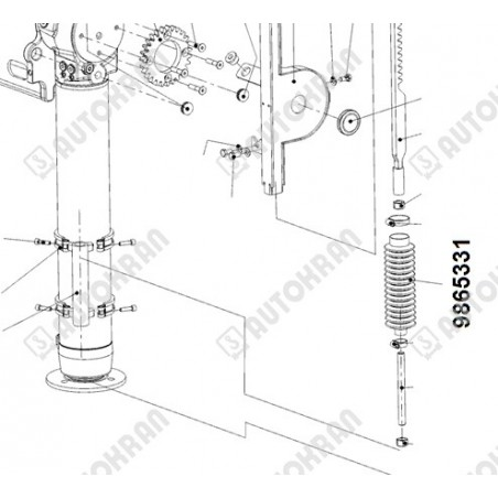 Zawiesie łańcuchowe 2 - cięgnowe MI. 16-8, 11,2t. - 1,0m, + haki skracające