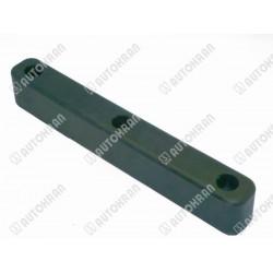 Guma (odbojnik, odbój), dł.400mm. x szer.52mm. x wys.60 mm, rozstaw otworów 170 mm/M10