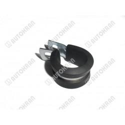 Uchwyt przewodu, obejma stalowo/gumowa fi. 8 mm