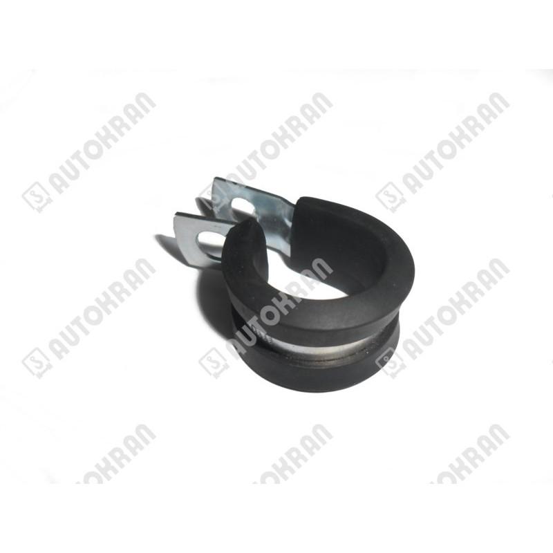 Uchwyt przewodu, obejma stalowo/gumowa fi. 16 mm