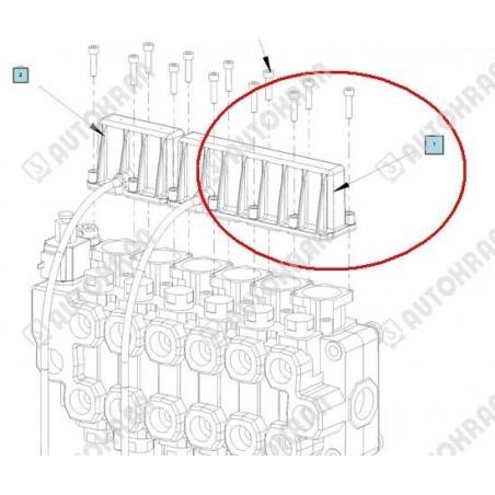 Zaczep przyczepy lawety  kulowy - rozstaw śrub 90x55 - 22,70kN - 2315kg