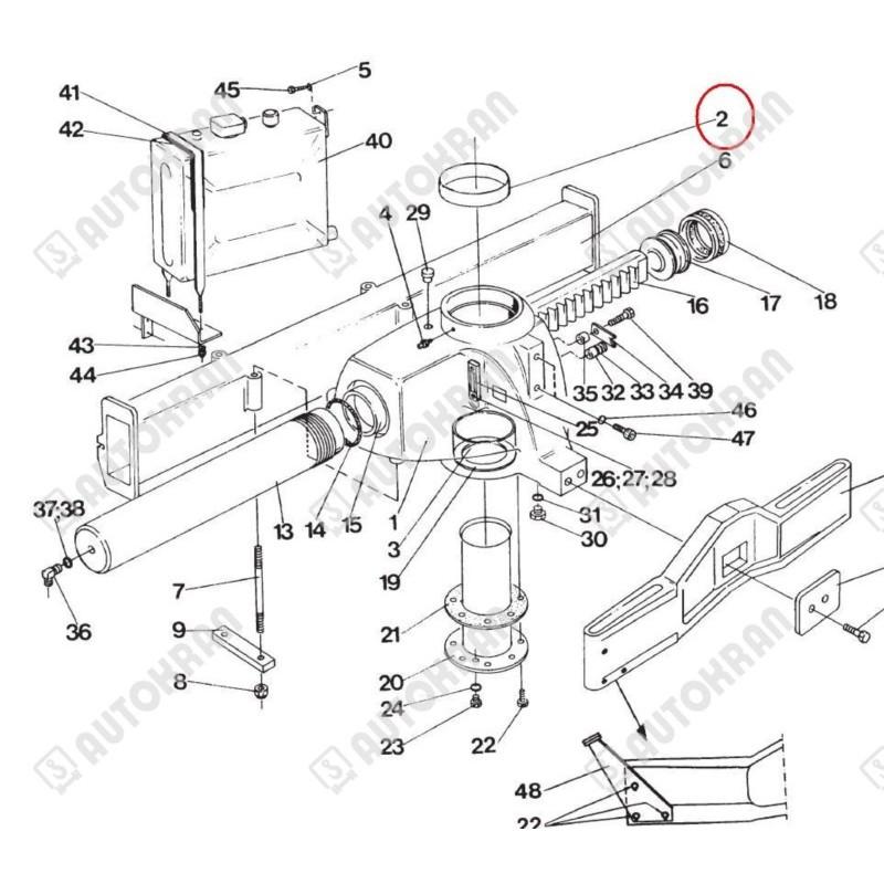 Skrzynka narzędziowa dł. 600mm. x szer. 450mm. x wys. 470mm. - szara