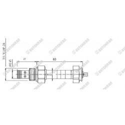 Oczko z gwintem (nakrętką) MI. 1.2t. M20mm (ucho mocowania ładunku)