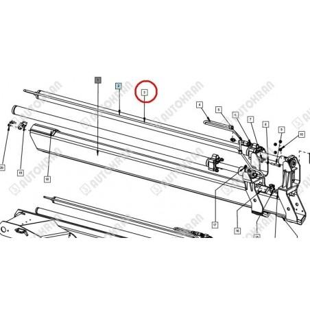 Dźwignia ręczna zamknięcia burt wywrotki - 662 N