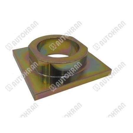 Łącznik do haka HIABa 8,0 t. pod rotator GR30, FR7 - sworzeń rotatora fi 49mm, sworzeń blokujący - fi 25mnm