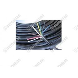 Przewód elektryczny 7 żył / 6x 1 + 1 x 1,5 linka ( czarny okrągły żyły kolorowe )