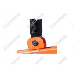 Łącznik do wideł samopoziomujących sprężynowych, pod rotator GR30 i FR7 - sworzeń rotatora fi 49mm, sworzeń blokujący -