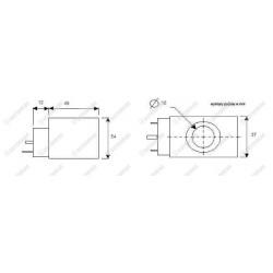 Cewka fi 16/54mm 24DC 20W, kwadratowa