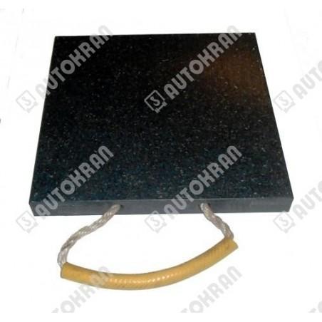 Naklejka HIAB ( logo HIAB srebrne litery/czarny słoń ) - 3870371 wys.190 x szer.577