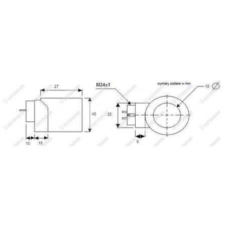 Cewka, stycznik, przekaźnik, silnika elektropompy, powerpack 12V / 200A