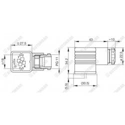 Napęd pokrętny w prawo / neutral / w lewo bez podtrzymania, kpl ze stykami 2 x NO, przełącznik piórkowy