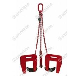 Zawiesie łańcuchowe 3-cięgnowe zakończone uchwytami GDA do kręgów betonowych GDA 1,6
