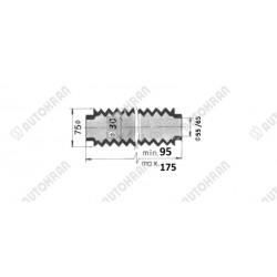 Zamek zawór do siłownika wysuwu - zamiennik dla części HIAB 8143498