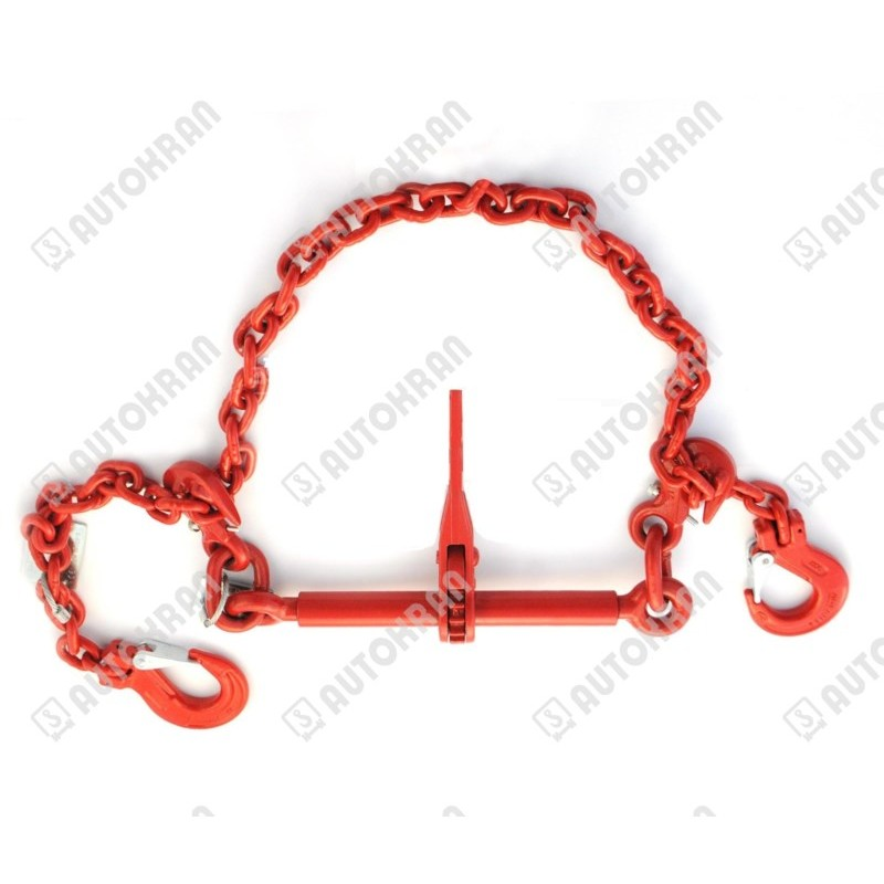 Napinacz grzechotkowy MI. 8-8 śruba + łańcuch 3,5 m + haki (komplet)