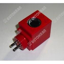 Cewka fi 13,5/40mm 12DC 18W, czerwona kwadratowa