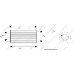 Wkład filtra ciśnieniowy Olsbergs - oryginał, HIAB 9828711