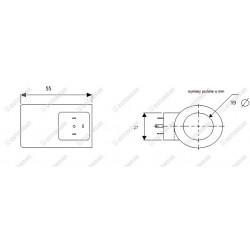 Zestaw naprawczy RS210/RM230 (sprężyna suwaka fi24 + śruba i miseczka + podkładka uszczelniacz)