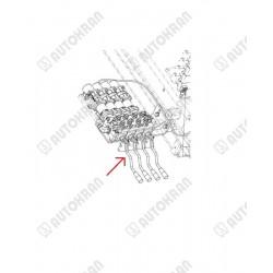 Dźwignia rozdzielacza HIAB z łącznikiem, gięta, oryginał 3710998