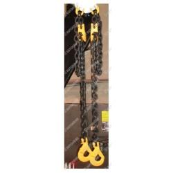 Zawiesie łańcuchowe do bramowca 2 - cięgnowe GU. 13-8, 7,5t. - 1,9m, haki bezpieczne do kontenerów + skracacze, łańcuchy d